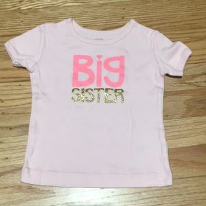 Big Sister shirt — perfect for baby announcement!